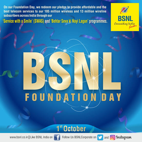 BSNL Foundation Day